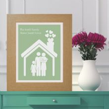 Personalised Family House Print - Housewarming Keepsake Gift